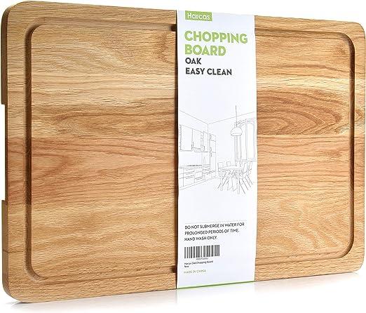 Tabla de cortar de madera de roble Premium. Tabla de corte extra ...