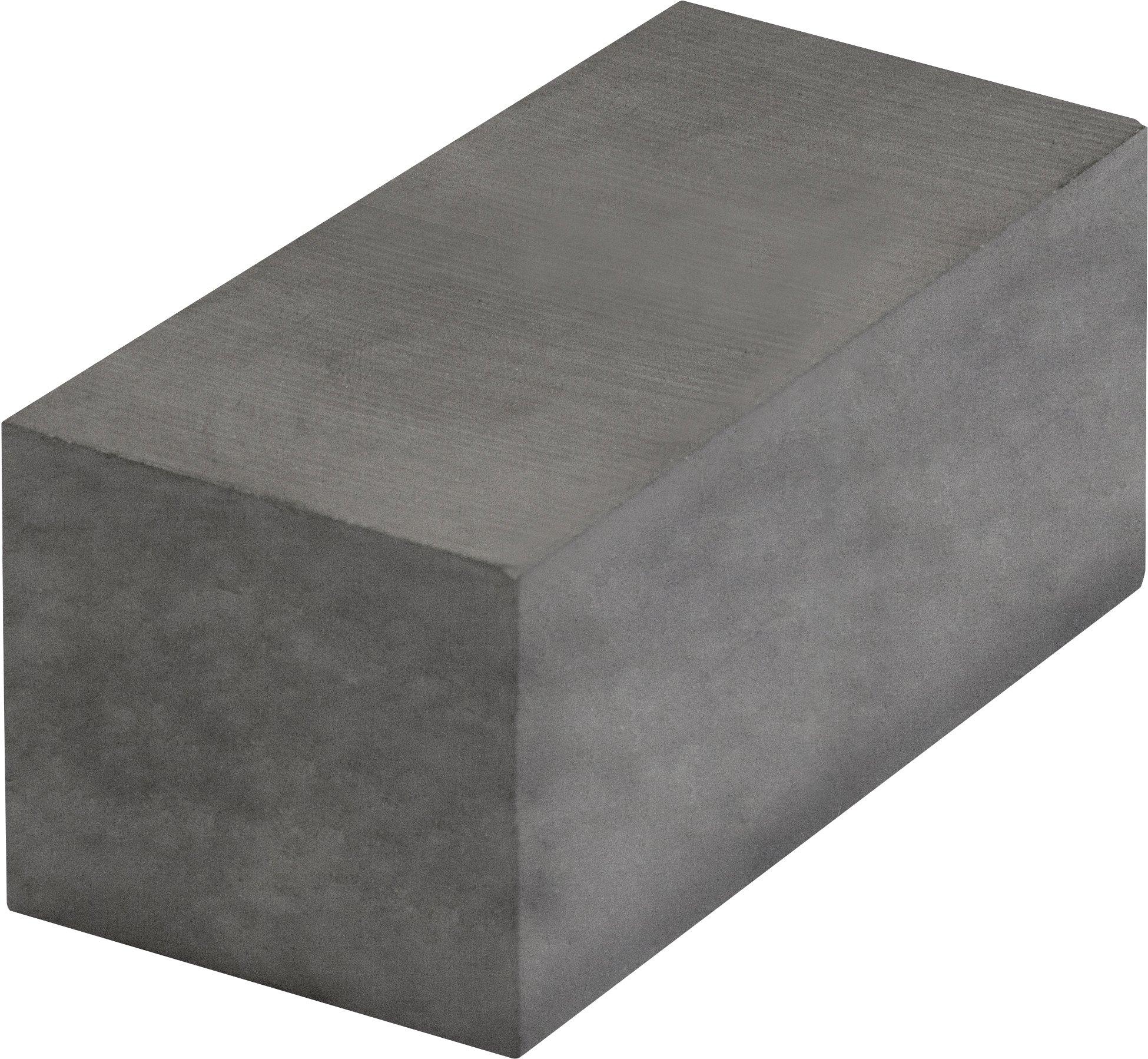 MAG-MATE 500X1X2C8 Grade 8 Ceramic Rectangular Bar Magnet, 1 x 2 x 1/2''/7 lb