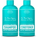 Amazon Price History for:Radha Organic Ayurvedic Shampoo and Conditioner set Men & Women with Argan Oil - 100% natural, Sulfate free, Deep Moisturizing, for Itchy Scalp, gentle on Curly & Colored hair - Neroli & Minty Scent