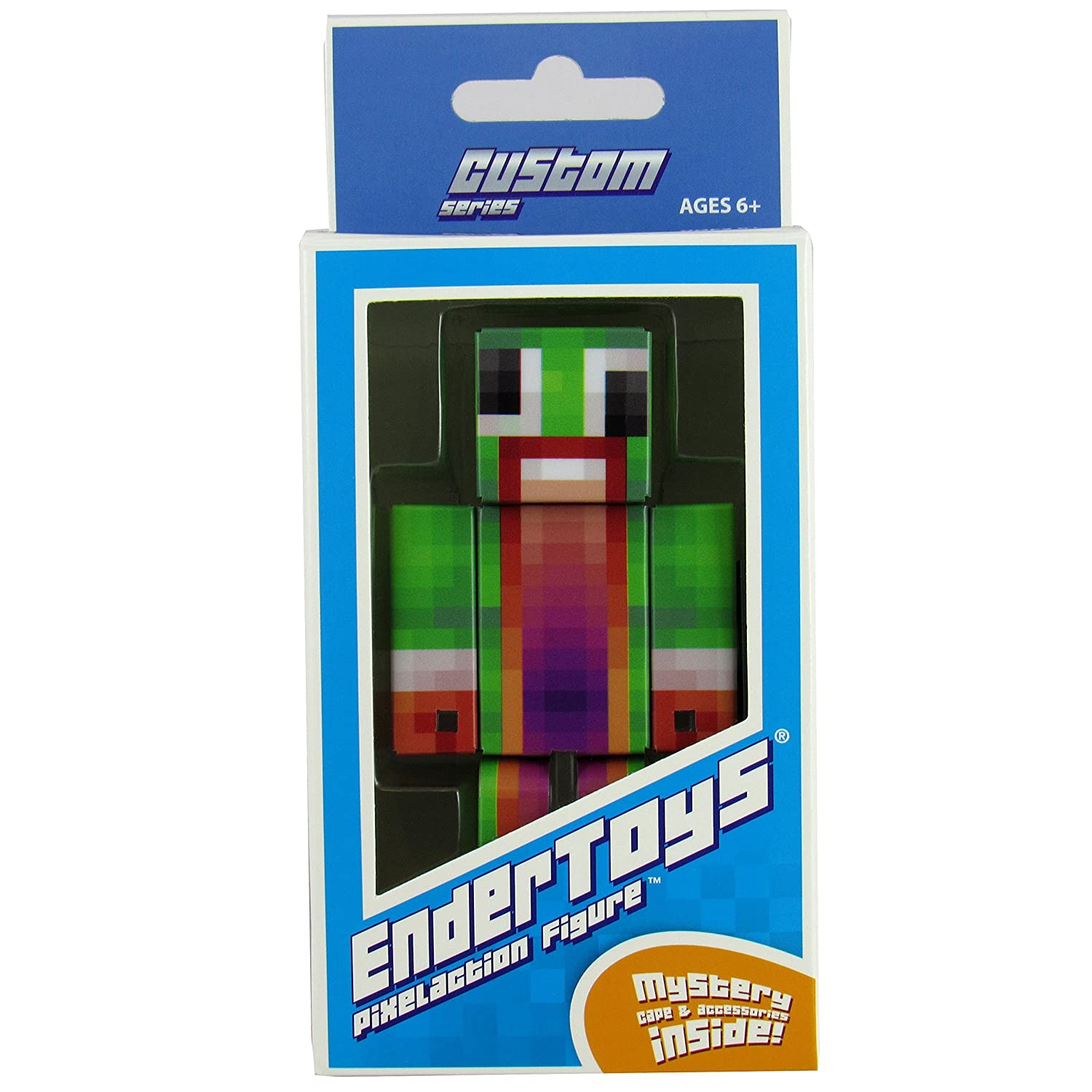 Not an Official Minecraft Product 4 Inch Custom Series Figurines Seus Corp Ltd. EnderToys Green Big Mouth Guy Action Figure Toy