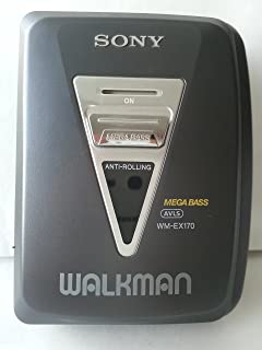 sony walkman cassette player. sony walkman stereo cassette player wm-ex170 r
