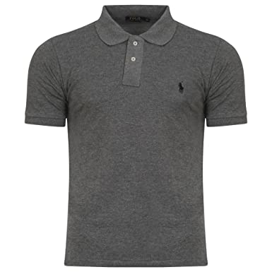 807644a0 Ralph Lauren Mens Polo Shirt Short Sleeve Small Pony Custom Fit (S, Dark  Grey): Amazon.co.uk: Clothing