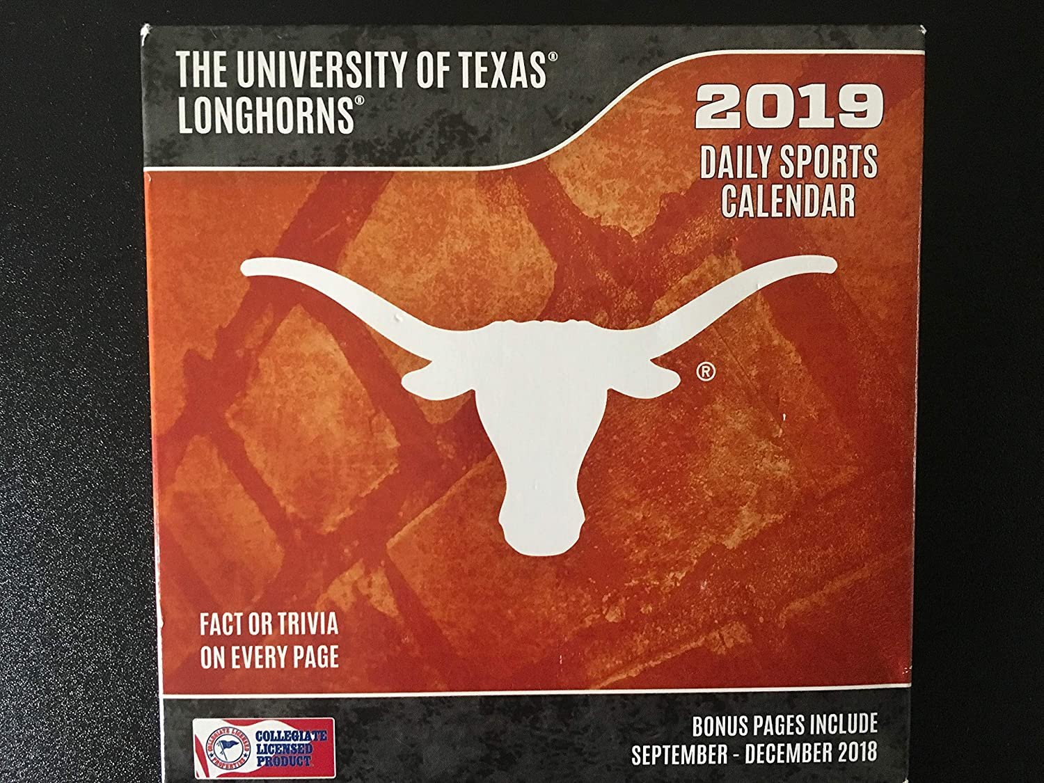 University Of Texas Calendar 2019 Amazon.: Turner 1 Sport Texas Longhorns 2019 Box Calendar Desk