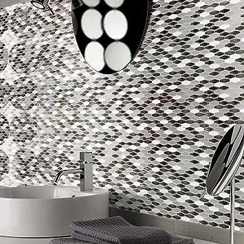 Art3d Peel N Stick Kitchen Backsplash Wall Tile Vinyl Wall Sticker, 12u0026quot;