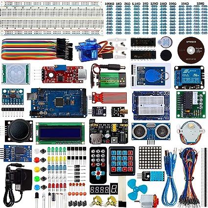 Smraza Completo Starter Kit,Mega 2560 con Guías Tutorial y Placa Controladora Mega 2560, LCD1602, Servomotor, Motor Paso a Paso Compatible con Arduino R3 Nano v3: Amazon.es: Electrónica