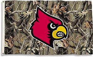 BSI NCAA Louisville Cardinals Flag with Grommets, 3' x 5', Camo