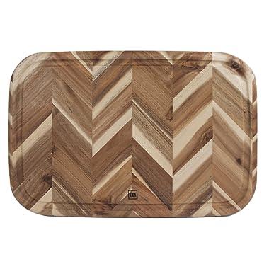 Madeira MHA19 Acacia Herringbone Carving & Cutting Board, 13  x 19