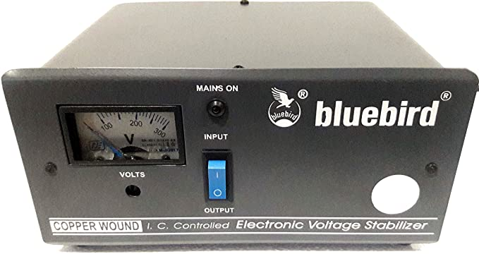 bluebird 1 KVA 170 270V Voltage Stabilizer Copper Wounded for Refrigerator/Washing Machine  Blue and White  Inverters