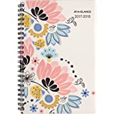 """AT-A-GLANCE Academic Weekly / Monthly Planner, July 2017 - June 2018, 4-7/8"""" x 8"""", Claire (1014-200A)"""