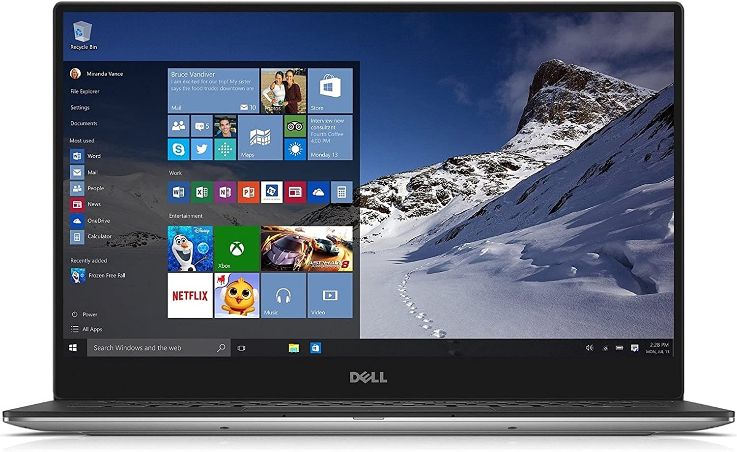 2015 Dell XPS 13 9343 Touchscreen Ultrabook 13.3 QHD+ (3200 x 1800) Touchscreen, 5th Gen Intel Core i7-5500U Processor up to 3.0GHz / 8GB DDR3 / 256GB SSD / Windows 10