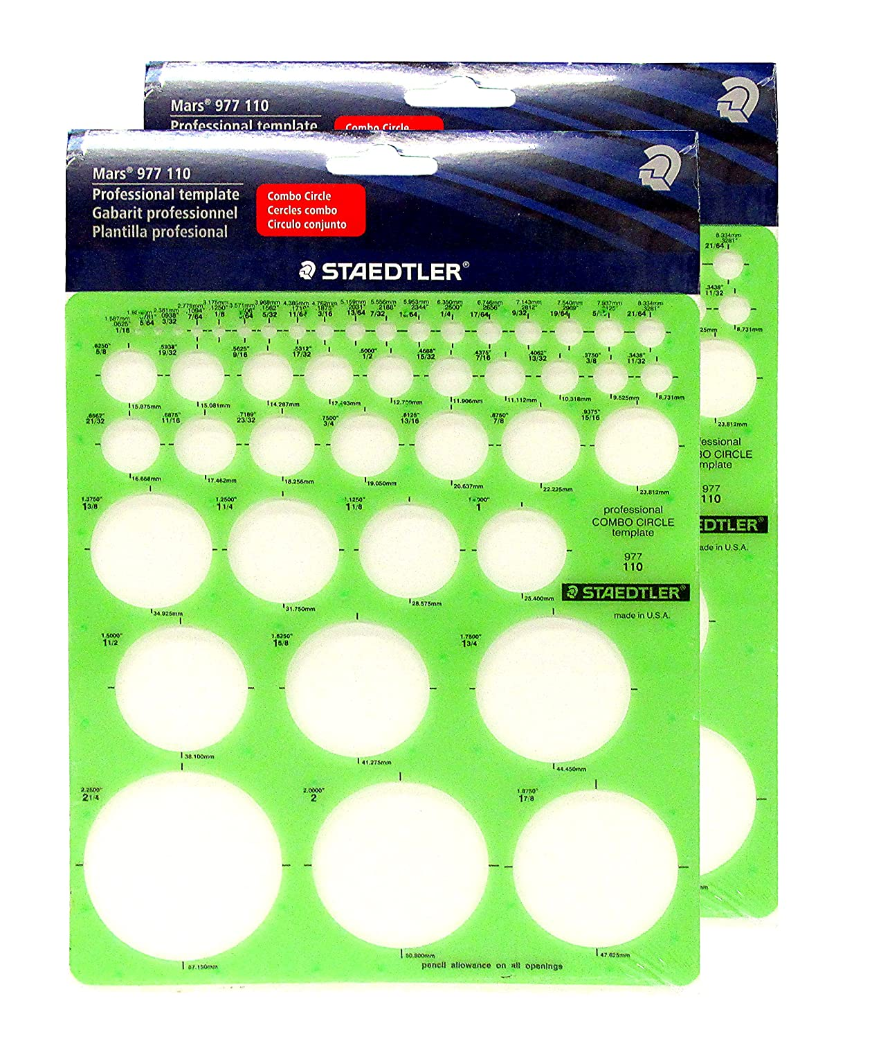 Staedtler Combo Circle Template 977 110 #N/A! STD977110
