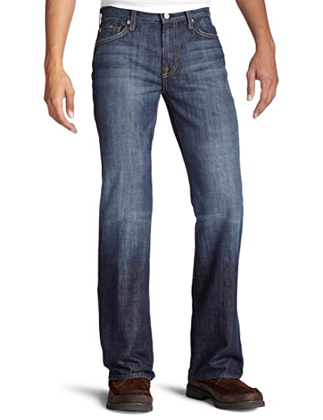 7 For All Mankind Mens Classic Bootcut Jean In New York Dark NY