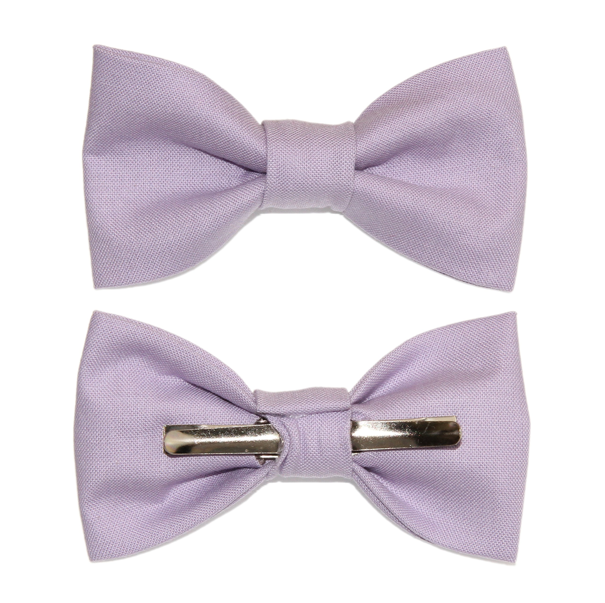 Toddler Boy 4T 5T Lilac Purple Clip On Cotton Bow Tie - Made In The USA