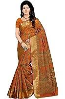 Rani Saahiba Women's Poly Cotton Printed Saree ( Skr3201_Orange )