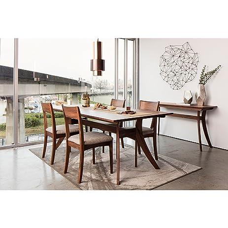 Amazoncom Aurelle Home Cara Solid Wood MidCentury Dining Table - Solid wood mid century dining table