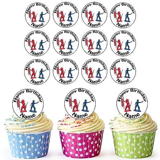 Indios y vaqueros 24 personalizado comestible cupcake ...
