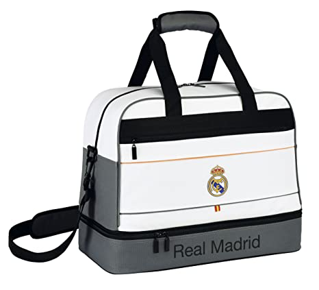 Real Madrid - Bolsa de deporte con zapatillero, diseño Classic (Safta 711424679)