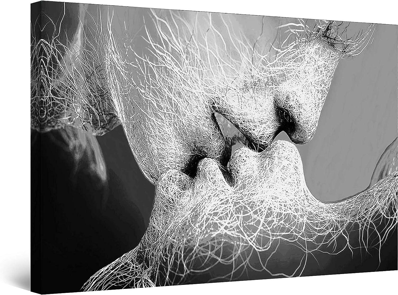 Startonight Cuadro sobre Lienzo en Blanco y Negro Adán y Eva, Impresion en Calidad Fotografica Enmarcado y Listo Para Colgar Diseño Moderno Decoración Formato Grande 60 x 90 CM