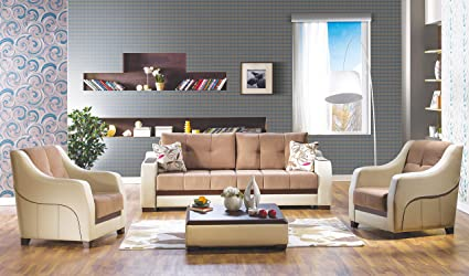 Amazon.com: ISTIKBAL Multifunctional Furniture 3 Piece Living Room ...