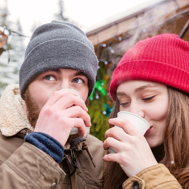 50 St/ück Tee ideal Badebecher 180 ml Wasser und kalte Getr/änke 6 oz wei/ße Pappbecher Einwegbecher f/ür Kaffee