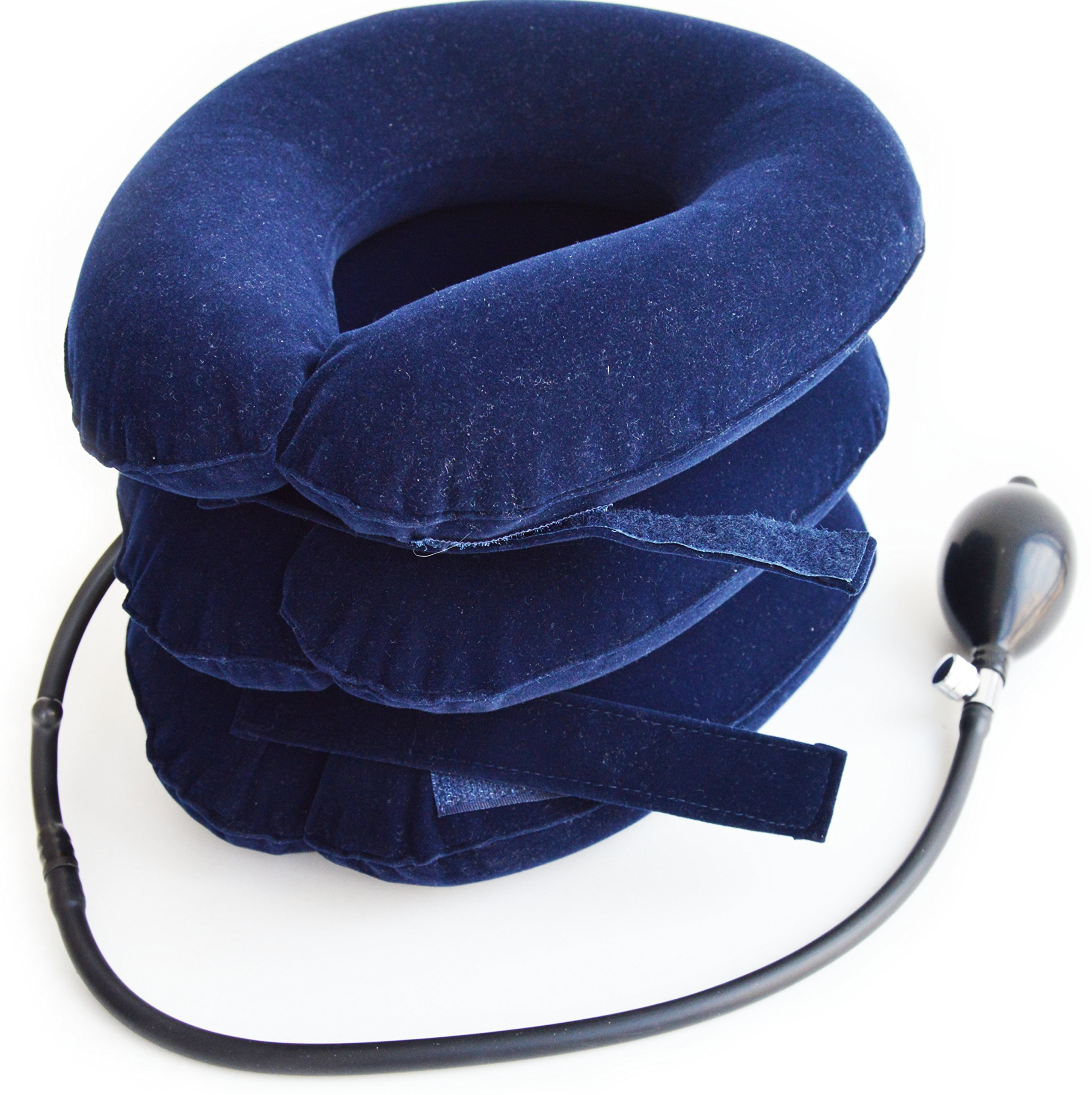 SafeMedika's Cervical Neck Traction Device - Effective Chronic Neck Pain & Shoulder Pain Relief Collar for Home Traction Spine Alignment