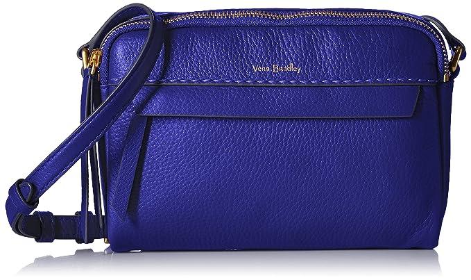 5b02b6d60 Vera Bradley Mallory RFID Petite Crossbody, Leather, gage blue ...