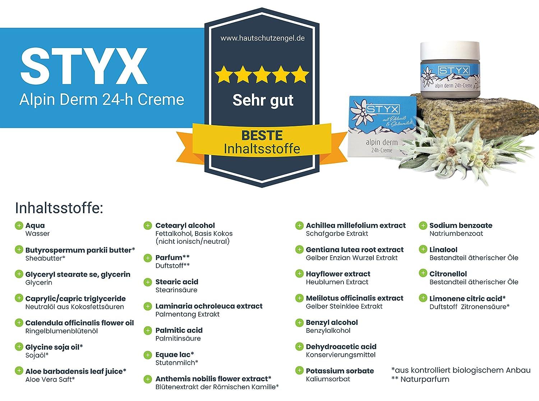 Bio Cuidado de piel crema 24h (50ml) lo mejor de los Alpes Ideal para seca, delicada, piel con irritados Alpen de hierbas, Manteca de Karité, aloe vera, ...