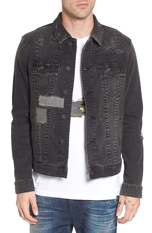 [トゥルーレリジョン] メンズ ジャケットブルゾン True Religion Brand Jeans Jimmy Mended B [並行輸入品] B07C3D5MP5 XXX-Large