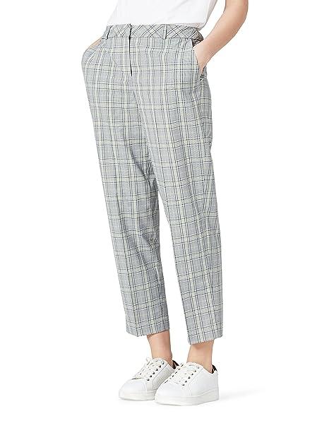 5a8a63662f1 FIND Pantalones de Cuadros Mujer  Amazon.es  Ropa y accesorios