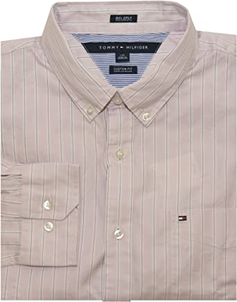 Tommy Hilfiger Camisa de 2 capas de rayas Logo para hombre ...
