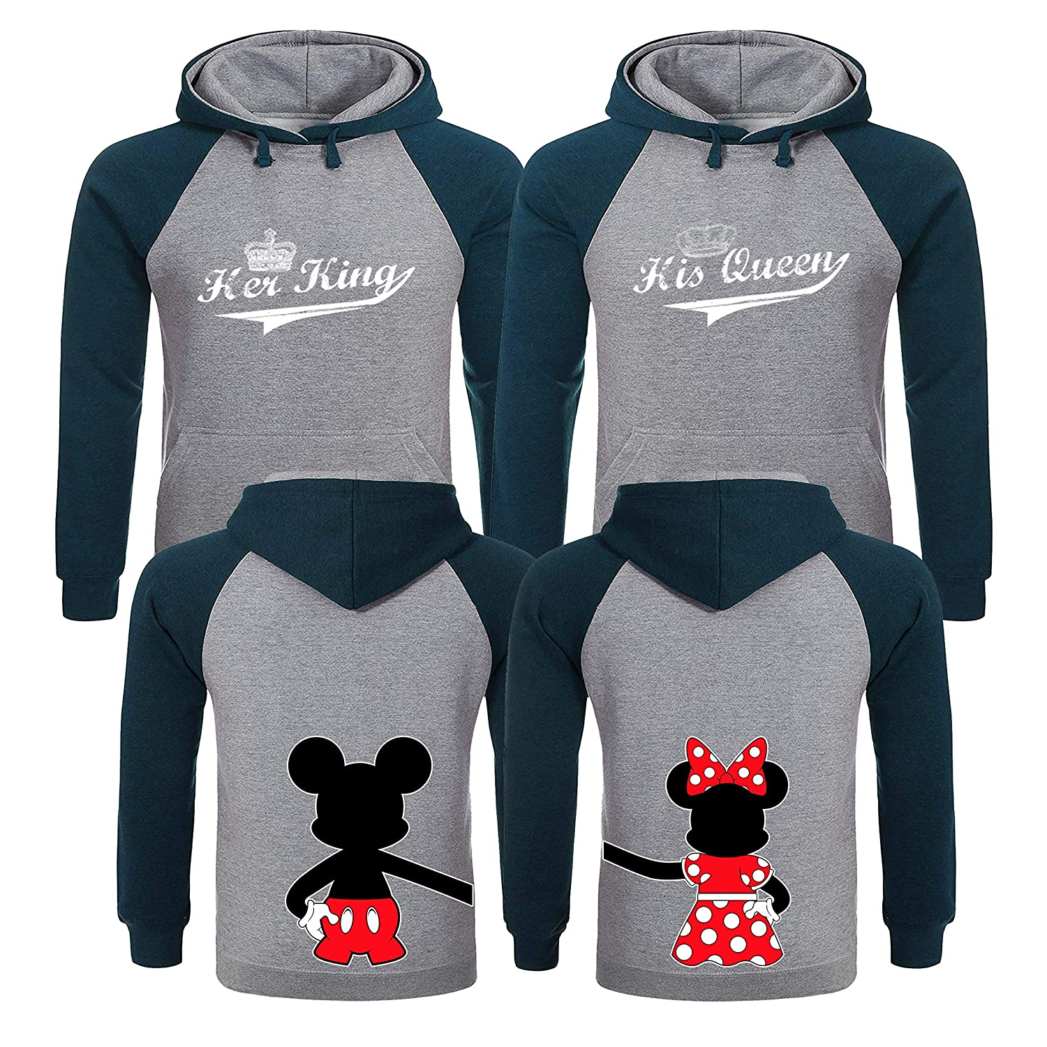 King and Queen Hoodies King and Queen Matching Couple Shirts His and Hers Couples Gifts