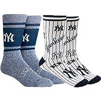 PKWY Unisex 2-Pack MLB New York Yankees Crew Length Socks