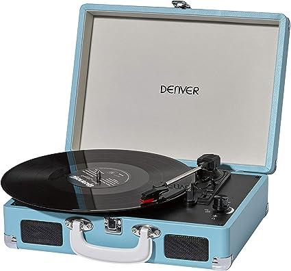 Denver VPL-120 - Giradiscos con Altavoces (2x1 W) Color Azul Claro ...