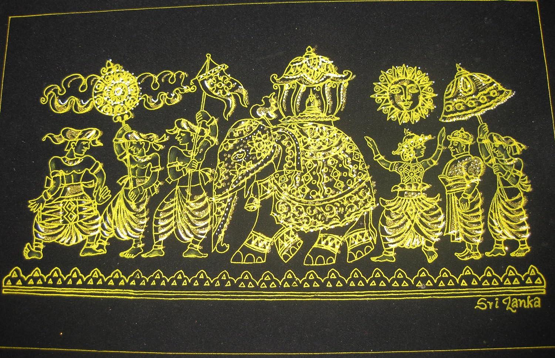 Amazon.com: Sri Lanka Kandy Festival Perahera Velvet Fabric Glitter ...