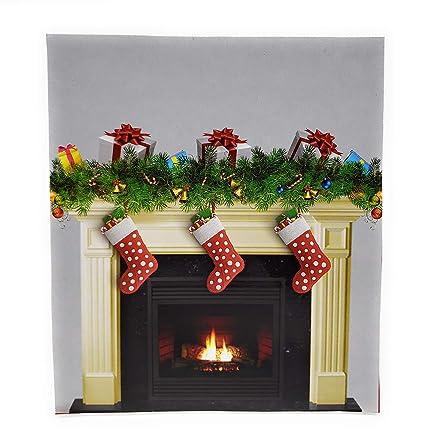 Create A Scene Christmas Fireplace 35 X 40 Wall Cover Wall