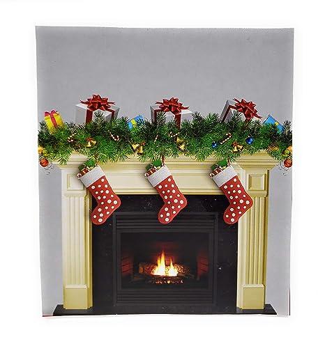 Christmas Fireplace.Create A Scene Christmas Fireplace 35 X 40 Wall Cover