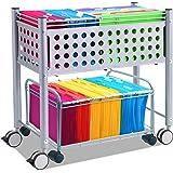 Vertiflex Mobile Companion File Cart, 22.5 x 12.375 x 14.5 Inches, Matte Gray (VF52006)