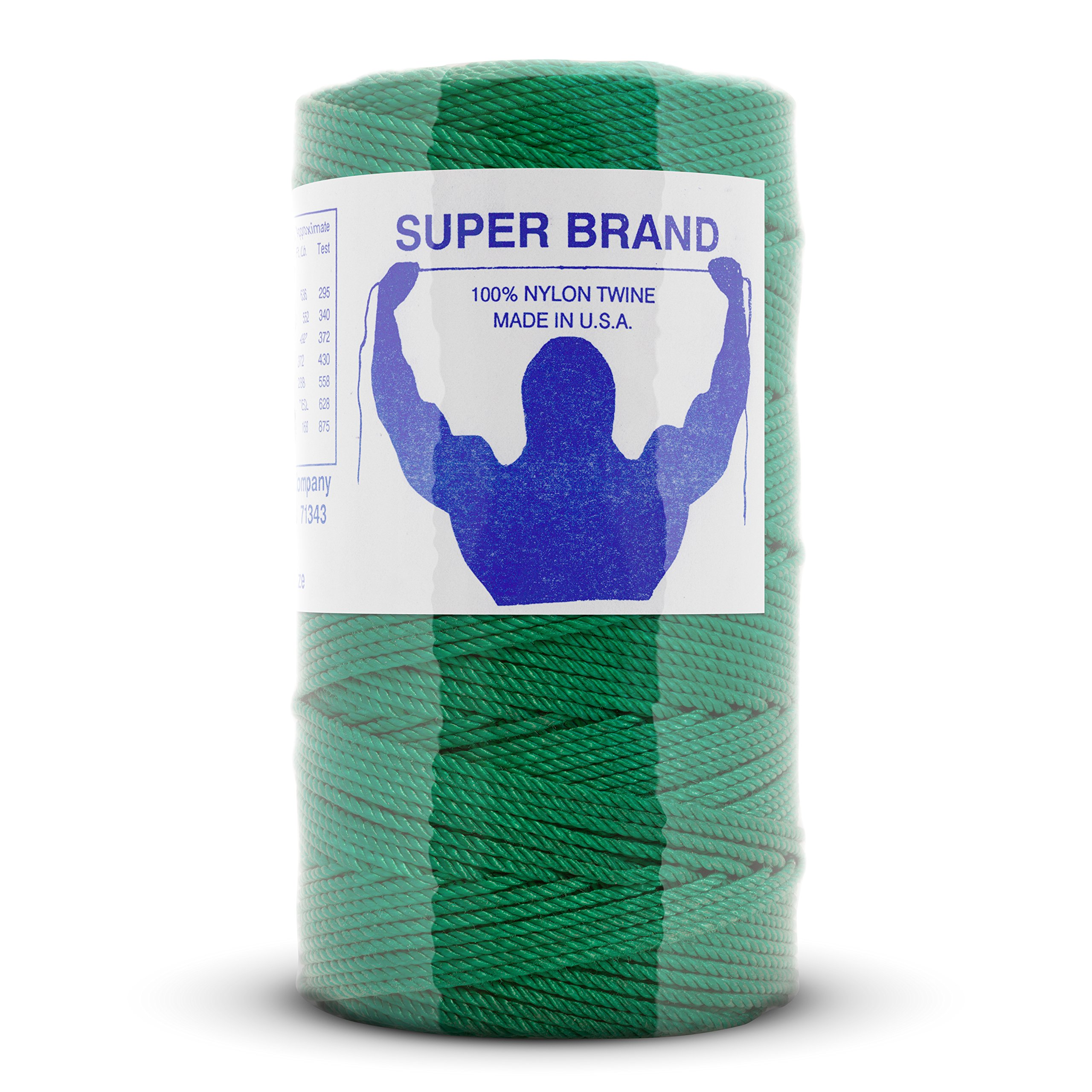 Green Nylon Twine, Twisted. Size #6, 1 lb 6-pack