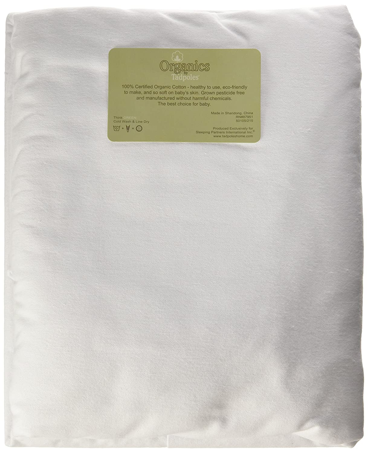 Tadpoles Organics Set of 2 Flannel Fitted Crib Sheets Natural