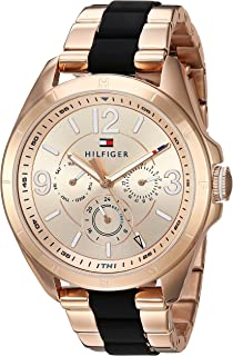 Tommy Hilfiger Womens Sophisticated Sport Quartz Stainless Steel Casual Watch, Color:Rose
