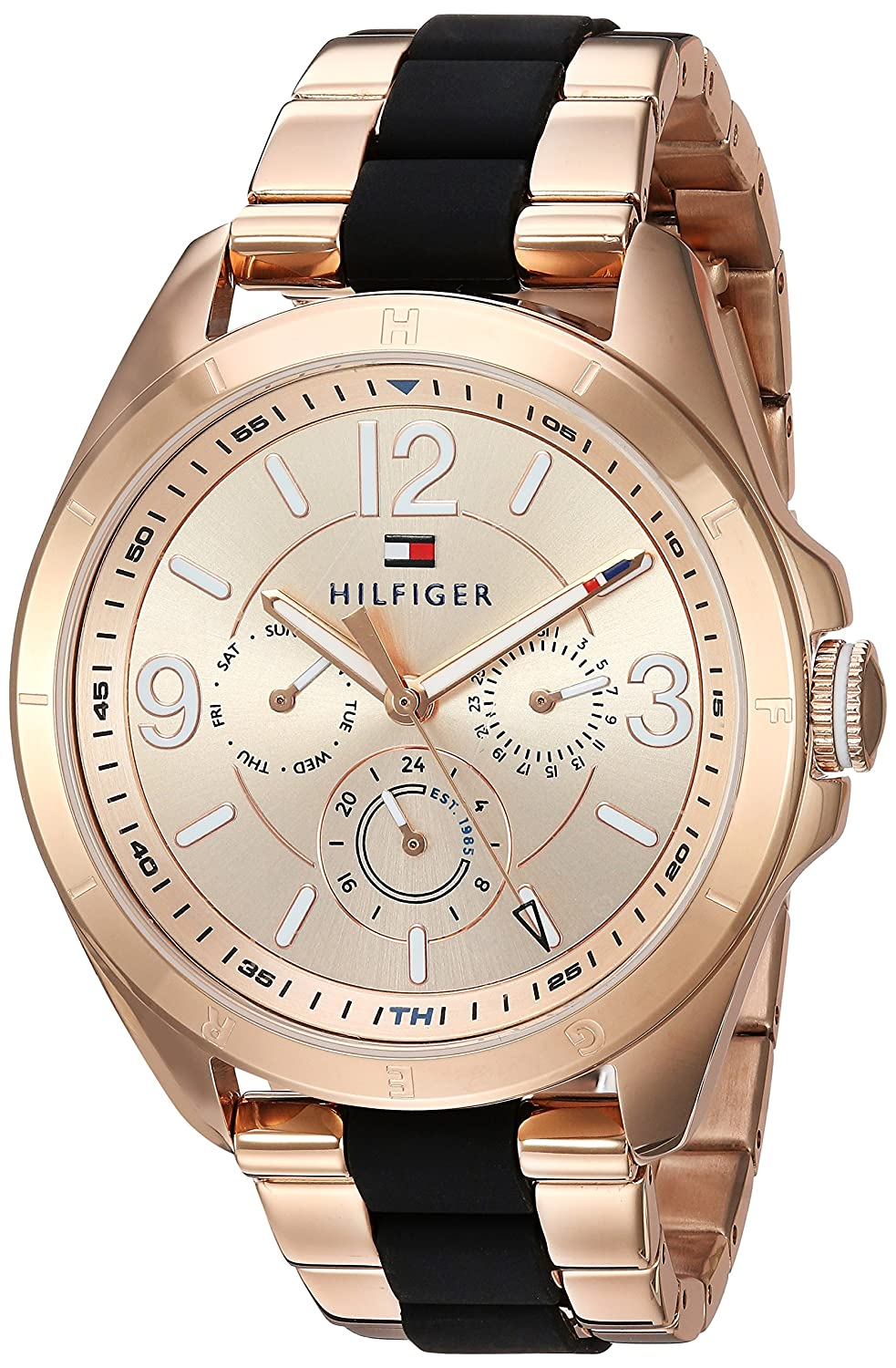 Amazon.com: Tommy Hilfiger Womens Sophisticated Sport Quartz Stainless Steel Casual Watch, Color:Rose Gold-Toned (Model: 1781770): Watches