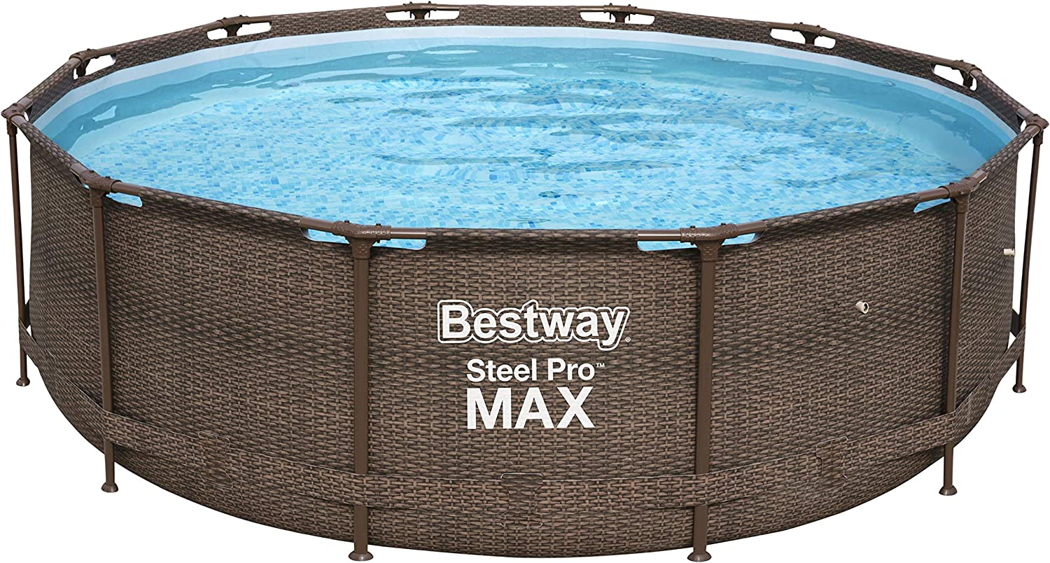Bestway p61875ass18 Piscina, 9150 L, marrón, 366 x 366 x 100 cm: Amazon.es: Jardín