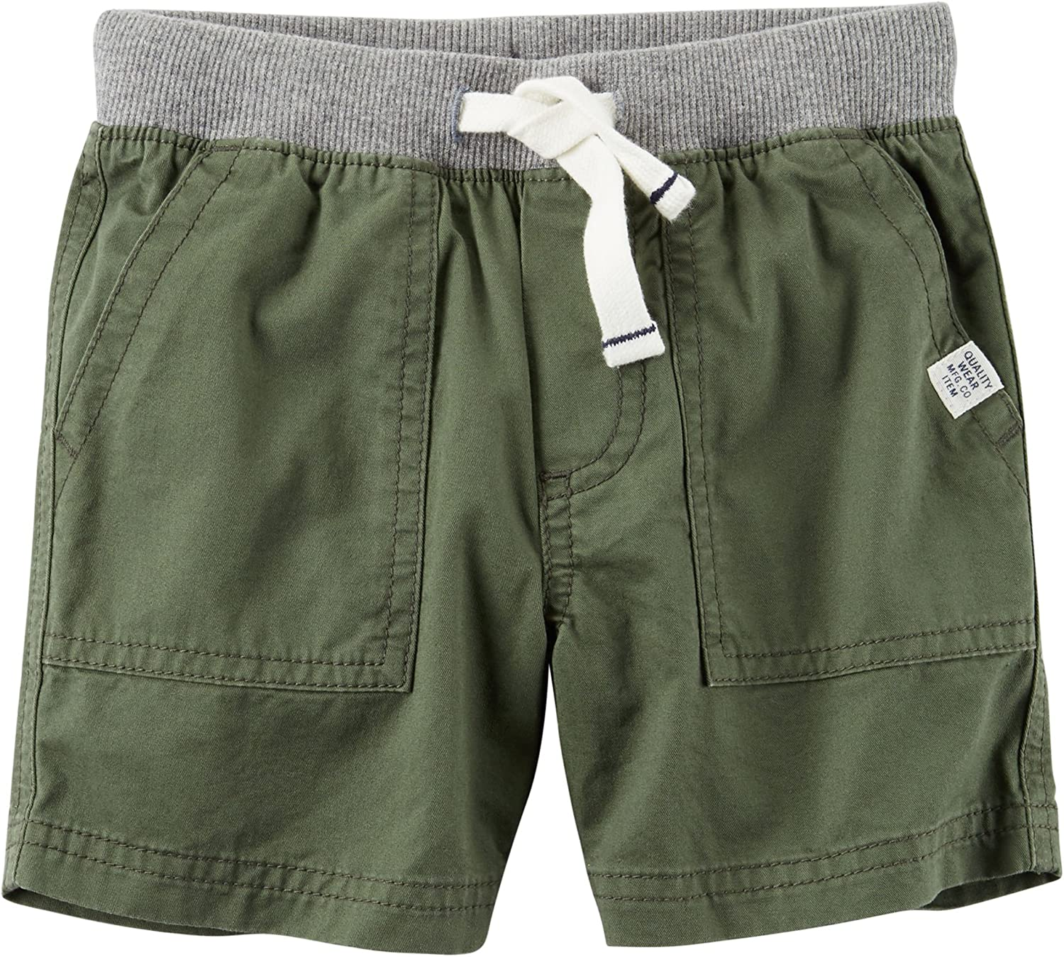 3 Months Carters Baby Boys Olive Twill Pull On Shorts
