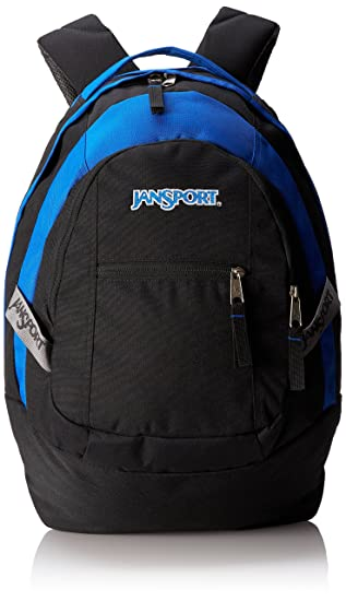 Amazon.com: JanSport Trinity Backpack (Black/Blue Streak): Sports ...