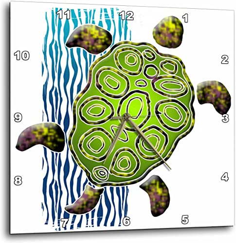 3dRose dpp_44618_3 Illustration with Sea Turtle-Wall Clock, 15 by 15-Inch