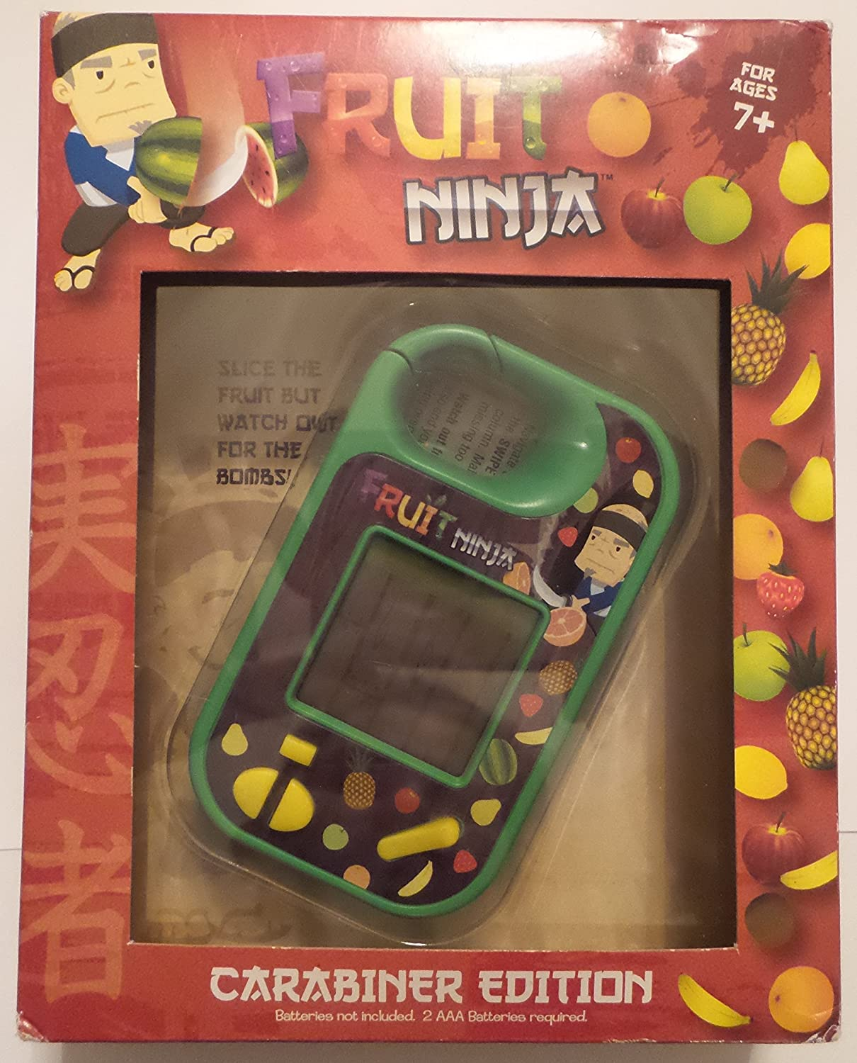 Basic Fun Fruit Ninja Mini Handheld Game Carabiner Edition