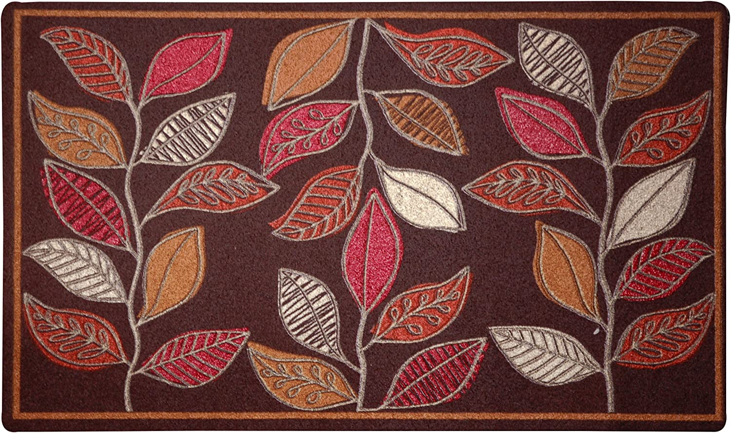 Mohawk Home Abstract Leaf Stripe Doormat, 18 by 30-Inch