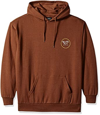 7bf27b78 Amazon.com: Brixton Men's Wheeler Relaxed Standard Fit Hood Fleece  Sweatshirt: Clothing