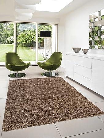 Moderner Hochflor Designer Teppich Dream Shaggy 4000 Mokka, Farbe:Braun ;Größe:120x170cm