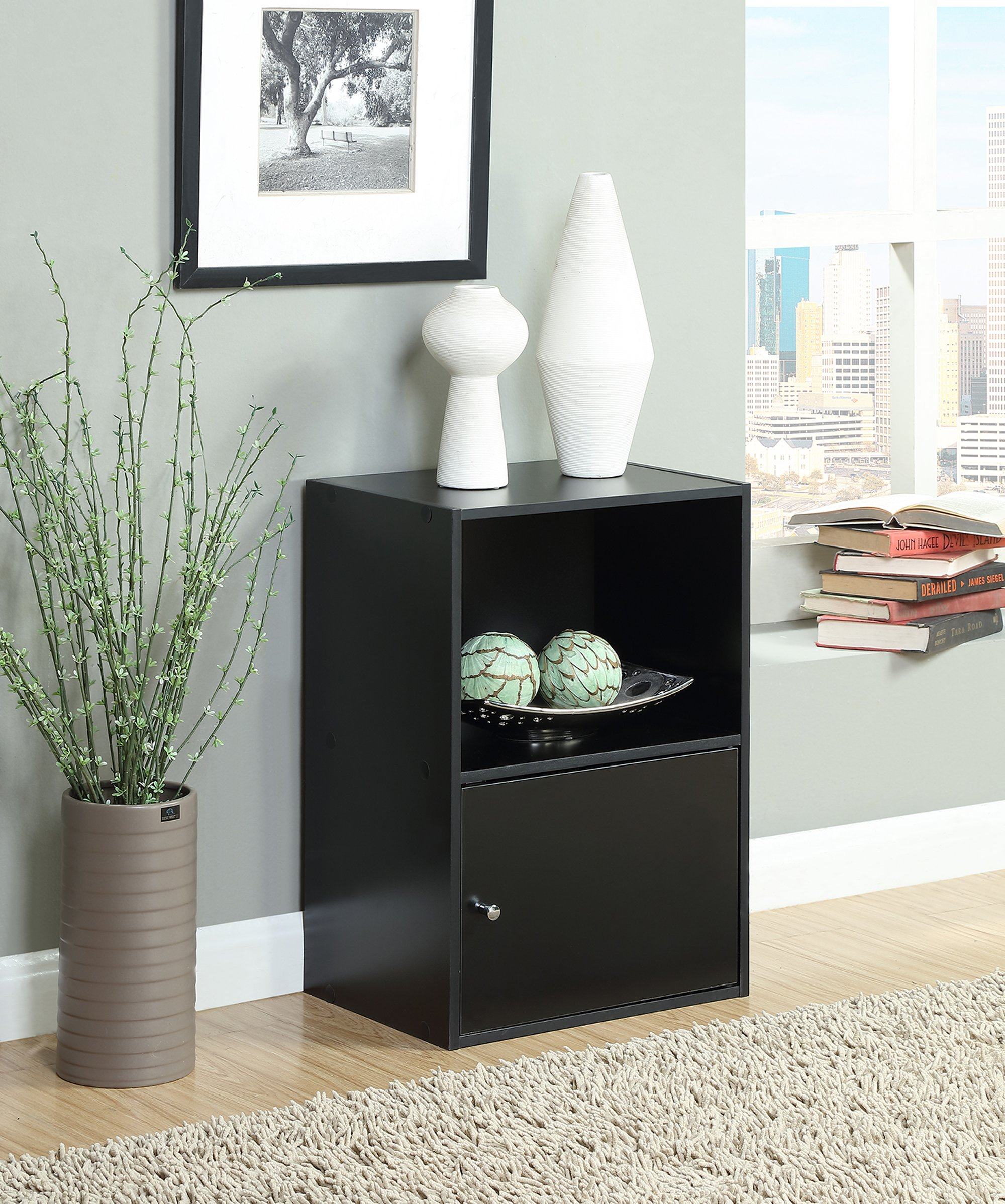 Convenience Concepts Designs2Go X-Tra Storage 1-Door Cabinet, BlackConvenience Concepts Designs2Go X-Tra Storage 1-Door Cabinet, Black